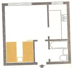 plan mieszkania lata 60.